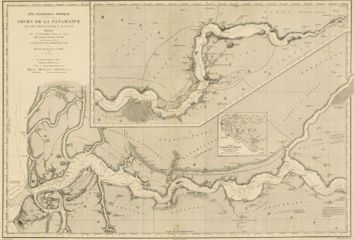 Mapa del río Casamance. 1870